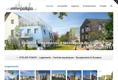 Capture d'écran du site de Atelier Po & Po