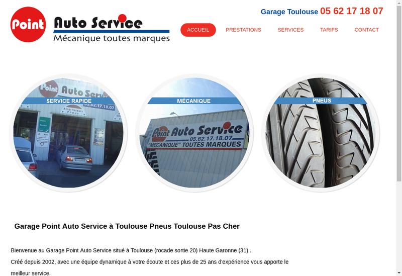 Capture d'écran du site de SARL Point Auto Service