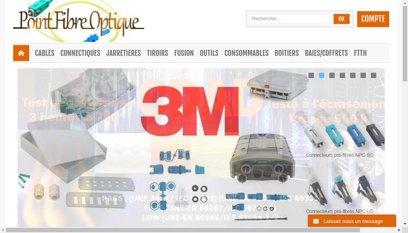 Capture d'écran du site de Point Fibre Optique