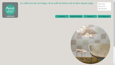 Site internet de Point Vert Carrelage