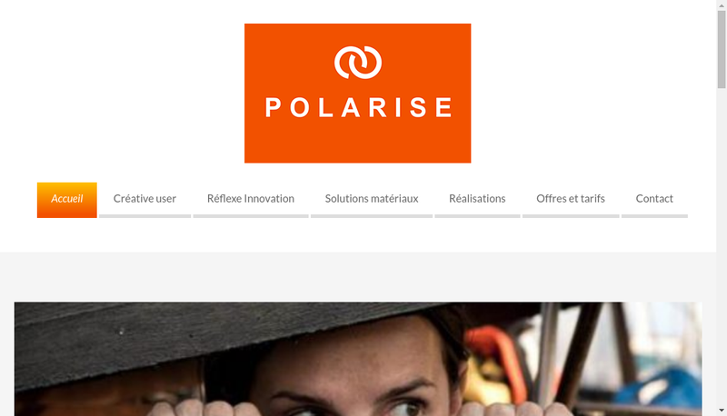 Capture d'écran du site de Polarise