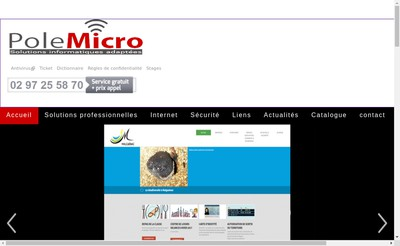 Site internet de Pole Micro