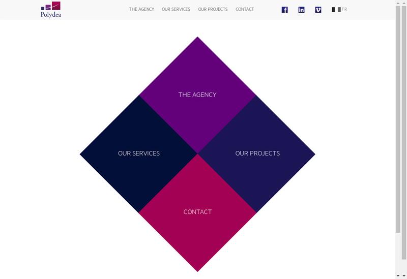Capture d'écran du site de Polydea