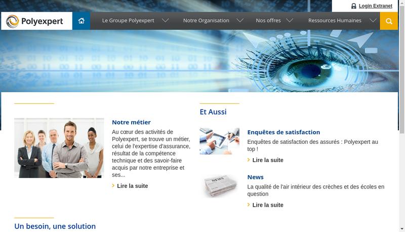 Capture d'écran du site de Polyexpert-Expertises R Masse