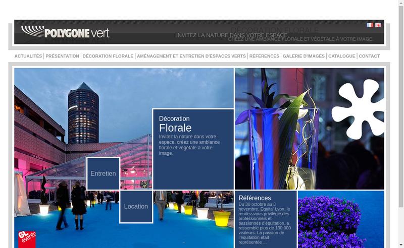 Site internet de Polygone Vert