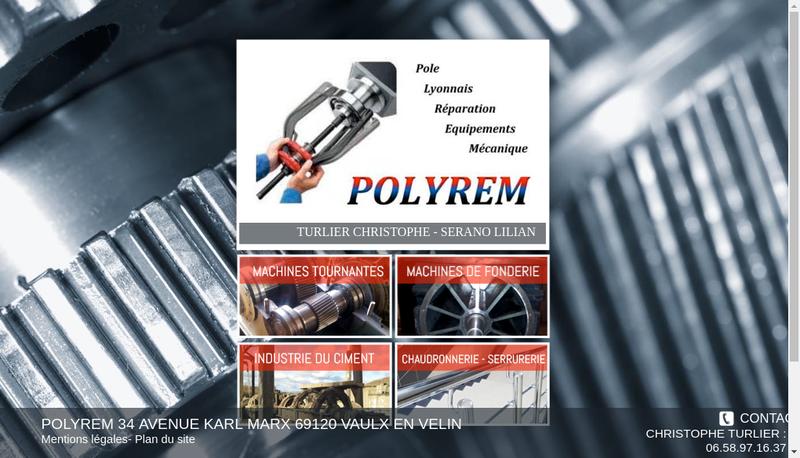 Capture d'écran du site de Polyrem