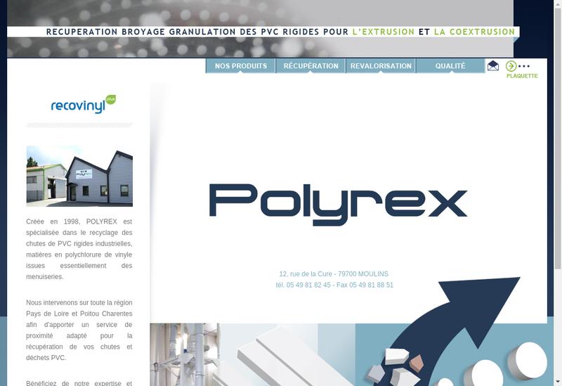 Capture d'écran du site de Polyrex