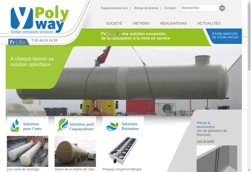 Capture d'écran du site de Polyway
