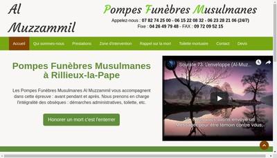 Site internet de Al Muzzammil