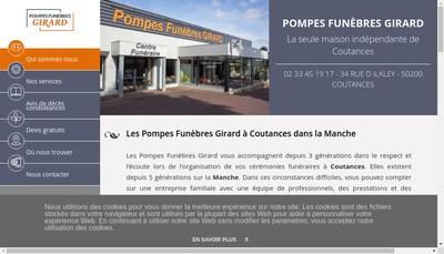 Site internet de Pompes Funebres Girard