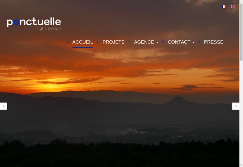 Capture d'écran du site de Ponctuelle