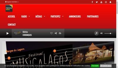 Site internet de Pontacq Radio