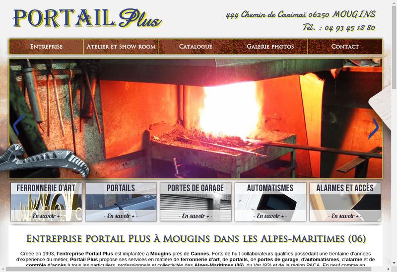 Capture d'écran du site de Portail Plus