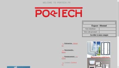 Site internet de Portech
