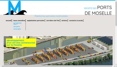 Site internet de Societe des Ports de Moselle