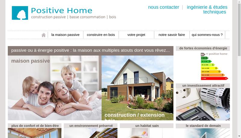 Capture d'écran du site de Positive Home