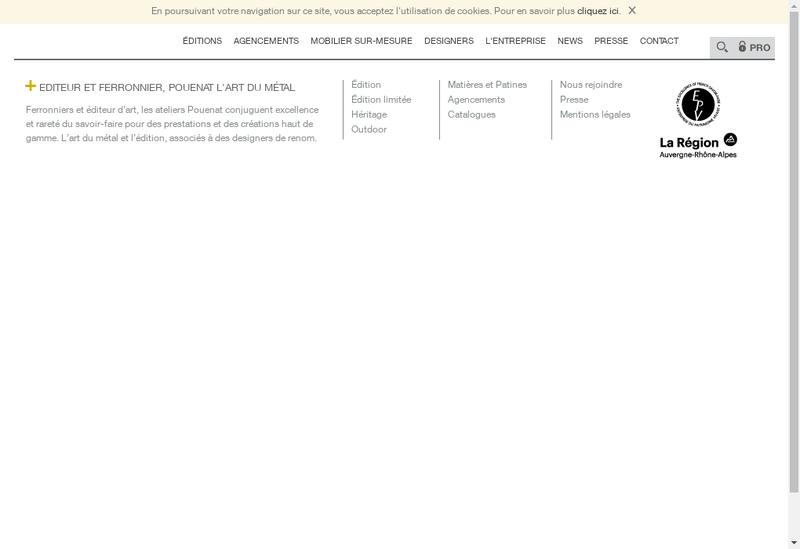 Capture d'écran du site de Pouenat Ferronnier