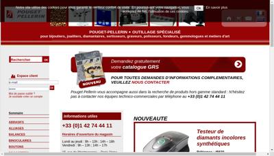 Capture d'écran du site de Pouget - Pellerin