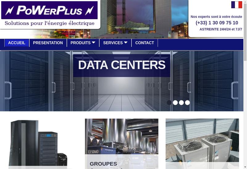 Capture d'écran du site de Powerplus