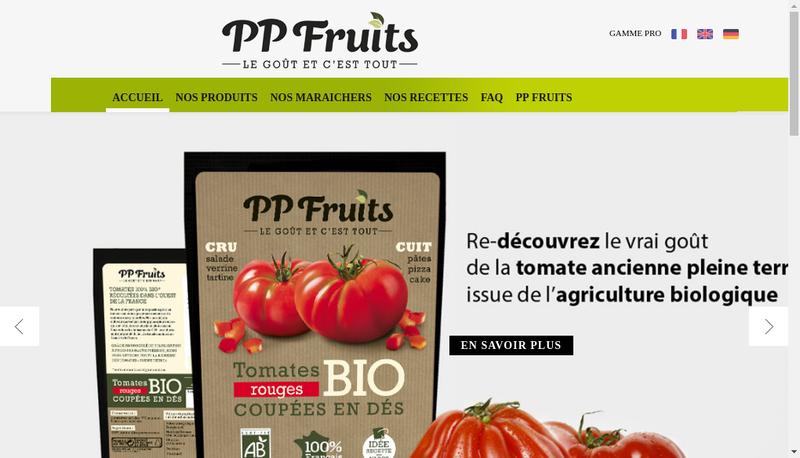 Site internet de Pp Fruits