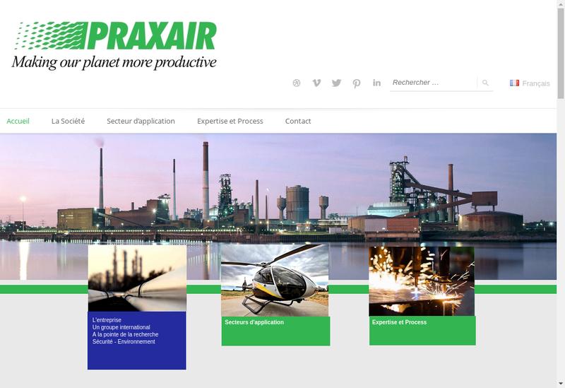 Capture d'écran du site de Praxair Surface Technologies SAS