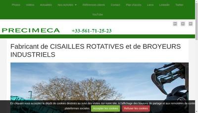 Site internet de Precimeca