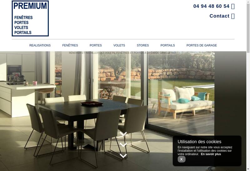 Capture d'écran du site de Premium