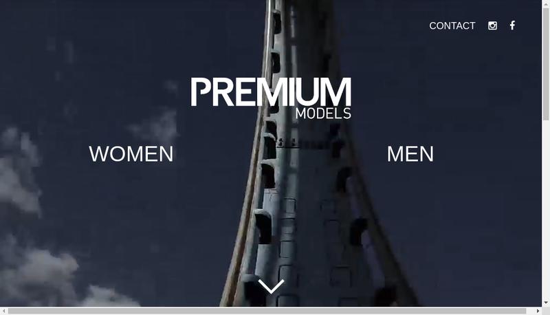 Capture d'écran du site de Premium Models