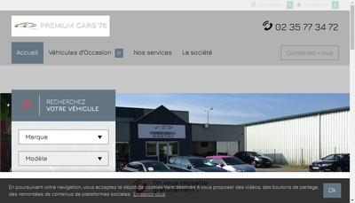Site internet de Premium Cars 76