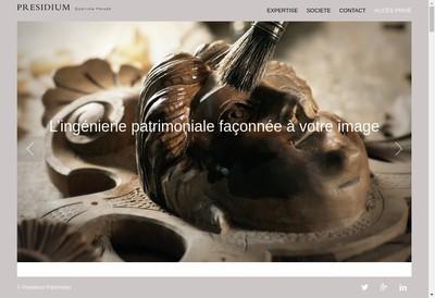 Site internet de Presidium Gestion Privee