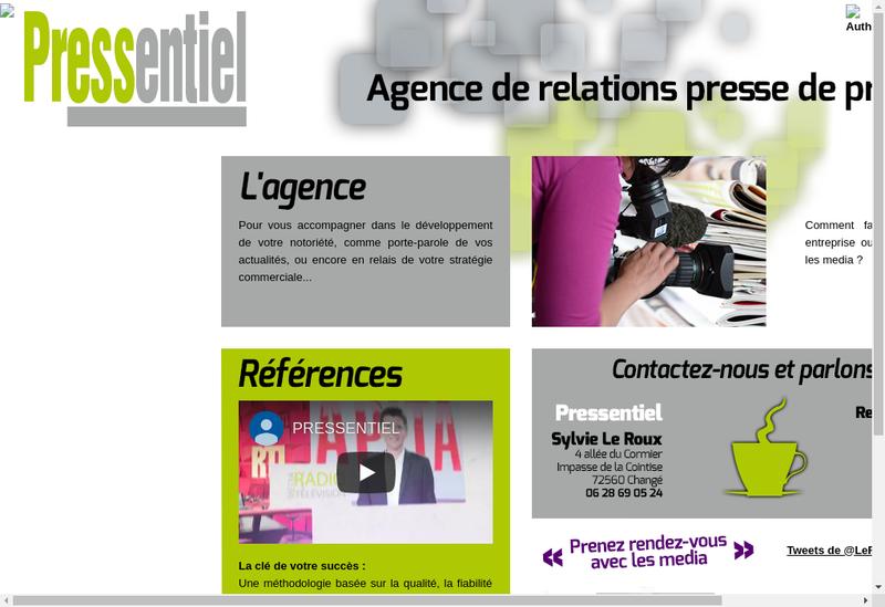 Capture d'écran du site de Pressentiel
