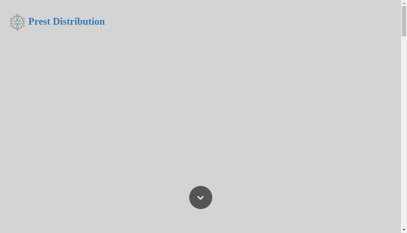 Capture d'écran du site de Prest Distribution