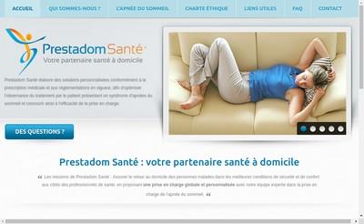 Site internet de Prestadom Sante