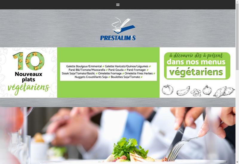 Capture d'écran du site de Prestalim S Restauration