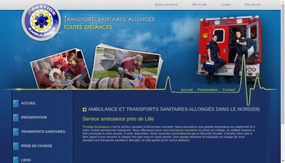 Site internet de Prestige Ambulance