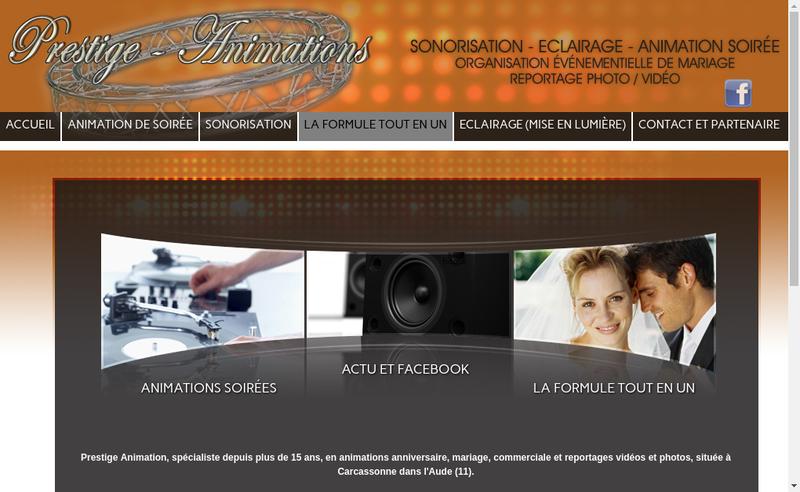 Capture d'écran du site de Cedric Facompre