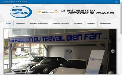 Site internet de Presti Lav 'Auto