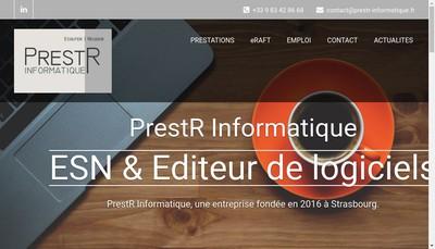 Site internet de Prestr Informatique