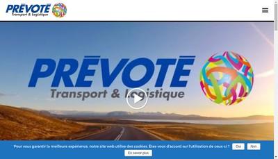 Site internet de Transports Prevote
