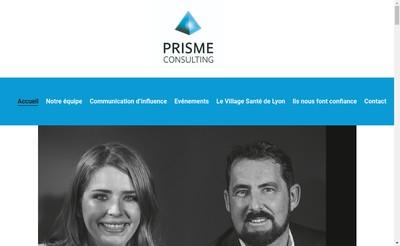 Site internet de Prisme International Consulting