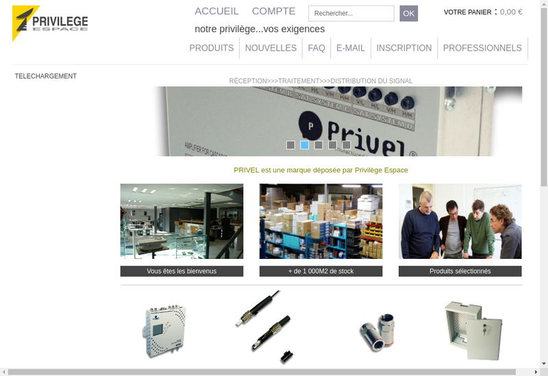 Capture d'écran du site de Privilege Espace
