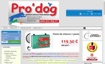 Site internet de Pro'Dog