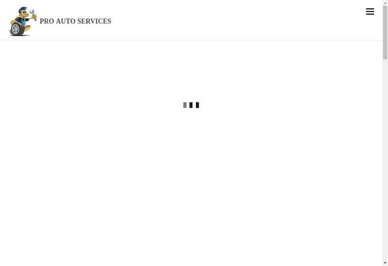 Capture d'écran du site de Pro Auto Services