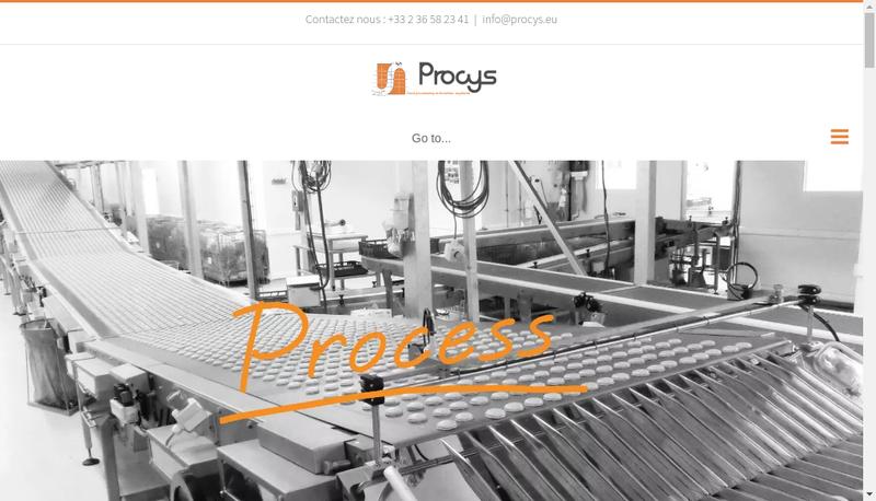 Capture d'écran du site de Procys