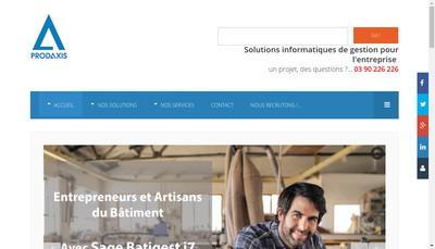 Site internet de Groupe Prodaxis
