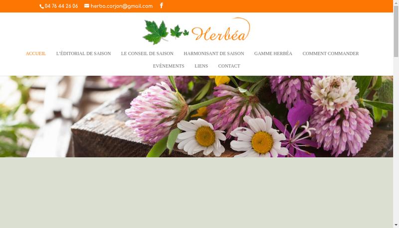 Capture d'écran du site de Herboristerie Corjon