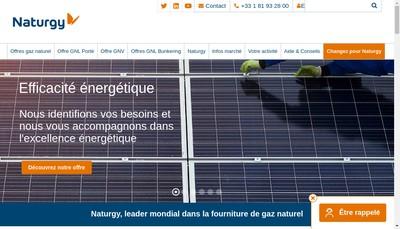 Site internet de Gas Natural Europe