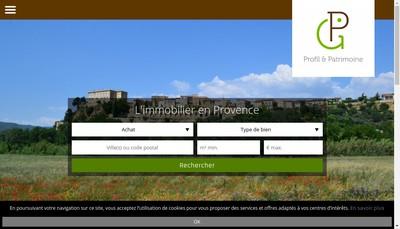 Site internet de Profil et Patrimoine