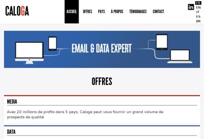 Capture d'écran du site de Progems
