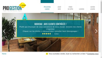 Site internet de SARL Pro Gestion